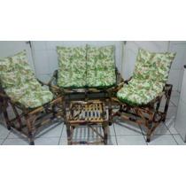 Jogo De Vime/bambu Sofá/cadeiras/poltronas
