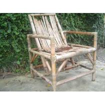 Belissima Cadeira Ou Poltrona Bambu Abaixo Do Preço