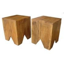 Banquinho Ou Banqueta De Madeira Pallet Pinus