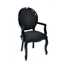 Cadeira Medalhão Lisa C/ Braço / Poltrona / Decoração