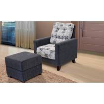 Cadeira Poltrona Decorativa Bell Tecido Chenille