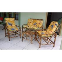 Jogo De Vime/bambu Sofá/poltronas/cadeiras