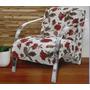 Cadeira Decorativa Braço Em Alumínio Ou Madeira Decor Mobile