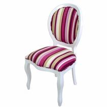 Cadeira De Jantar Medalhão Lisa / Cadeira Decorativa