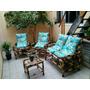 Jogo De Vime/bambu Sofá/poltronas/cadeiras Conjunto Completo