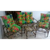 Conjunto De Vime/bambu Sofá/poltronas/cadeiras Promoção