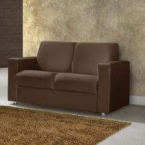 Sofá Estofado 2 Lugares Corino Sintético American Comfort