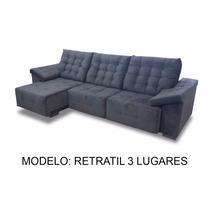 Sofa Retratil 3 Lugares 2.60m - (tecido Linho)