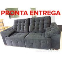 Sofa Retratil 2 Lugares 2.35m - Pronta Entrega- (tecido Sued