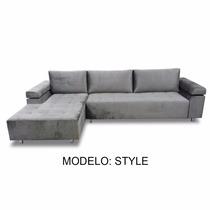 Sofá 3 Lugares Com Chaise 2.60m - Mod Style - (tecido Suede)