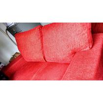 Sofa Vermelho Chenille Usado,2 Lugares, Conservadissimo!