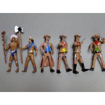 06 Homens 04 Xerifes + 02 Indios De 10cm Escala 1:18 Apache