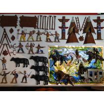 55 Peças Forte Apache Indio Cowboy Totem Cavalo Diligencia