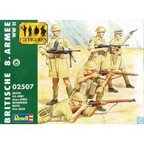 Figuras Soldadinhos British 8th Army 1/72 Revell 50 Peças