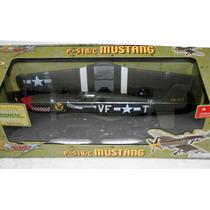 Avião 2ª Guerra Mustang B51 B/c- Brinqtoys