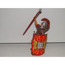 Soldado Centurião Romano Gladiador Escudo Lança Elmo 10cm