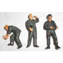 Soldados De Plástico Alemães 2a Guerra Lote C/3 Bonecos Colo