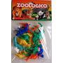 Zoológico Gulliver Com 12 Animais Coloridos