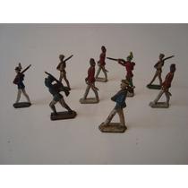 Lote Com 09 Antigos Soldadinhos De Chumbo - Soldados