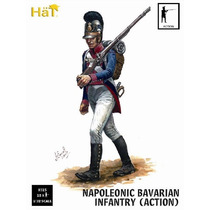 Hat 9315 1/32 Figuras Napoleonic Bavarian Infantry In Action