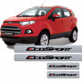 Kit Soleira Adesiva Ford Ecosport Textura Aço Escovado