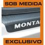 Kit Soleiras + Colunas P/ Montana Em Vinil Fibra De Carbono