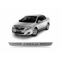 Kit Soleira Resinada Toyota Corolla 2014/ ( Aço Escovado )