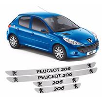 Kit Soleira Adesiva Peugeot 206 4 Peças Ref 03