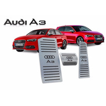 Kit Pedaleiras Com Descanso De Pé Em Aço Inox Audi A3 S3