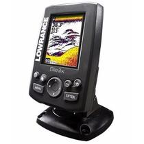 Sonar Lowrance Elite-3x Fishfinder Colorido Com Transducer