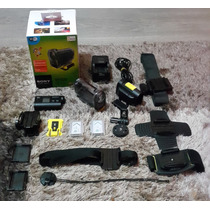 Filmadora Sony Actioncam Hdr-as15 + Acessórios Extras