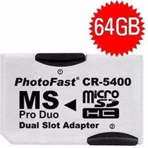 Psp - Adaptador Memory Stick Pro Duo + 1 Cartão Memória 32gb