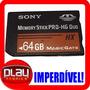 Lançamento! Memory Stick Pro Hg Duo Hx 64gb Sony Psp Ps3