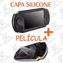 Kit Proteção C/ Película + Capa Silicone Psp Slim 2000/3000