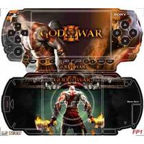 God Of War Skin P/ Sony Psp Fat / Is Tech Skin Frete Gratis