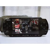 Sony Psp + Cartão De Memória + Jogos + Acessórios. Completo