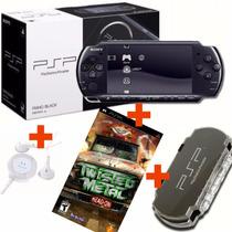 Kit Game Psp Sony 3010 + Jogo Twisted Metal + Fone + Case