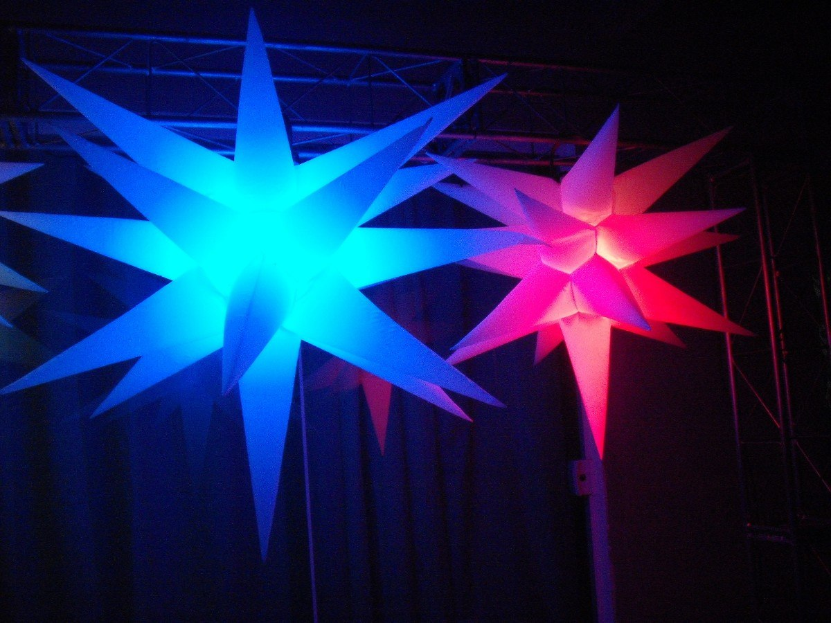 Iluminacao Para Quarto Mercado Livre ~ Sputnik Estrela19 Pontas 3d,festas,anivers?rio,ilumina??o dj  R$