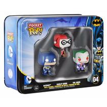 Set Dc Comics Funko Pocket Pop Com Batman, Harley E Joker