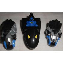 The Batman Lote Com 3 Mini Veículos 2 Bat-motos E 1 Bat-nave
