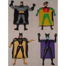 Batman Robin Batgirl Mulher-gato Bonecos Mcdonalds 2007 Card