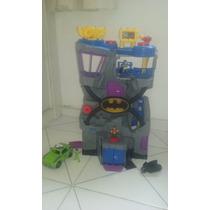 Imaginext Batcaverna Completa + Bonecos E Veículos
