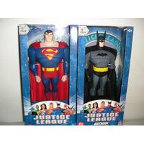 *dois Bonecos(superman+batman) Liga Justiça *25cm* Mattel*dc