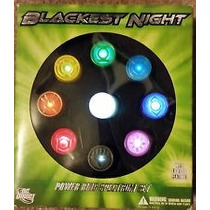 Anel Do Lanterna Verde 9 Aneis Com Luz Blackest Night