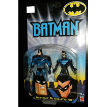 2 Pack/batman & Nigthwing 12 Cms(jlu)liga Da Justiça-justice