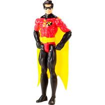 Boneco Dc Liga Da Justiça Robin 30 Cm Mattel Oficial