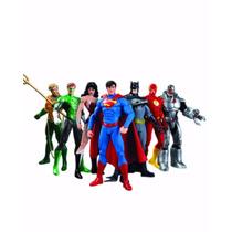 Dc Collectibles Liga Da Justiça Set 7 Pronta Entrega