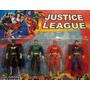 Kit 4 Bonecos Liga Da Justiça Batman Superman Lanterna Flash