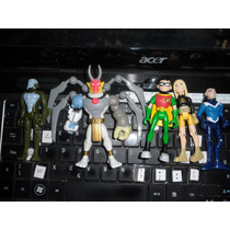 Teen Titans Jovens Titãs Robin Terra Aqualand 5 Bonecos