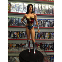 Estatua Resina Mulher Maravilha Lja 33cm Dc Ótimo Preço